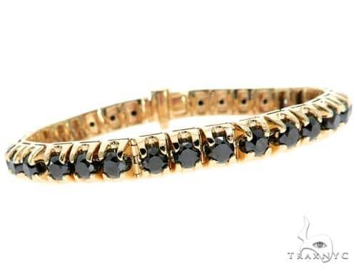14K Yellow Gold Black Diamond Bracelet 61796 Diamond