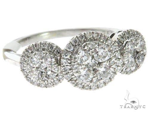 18K White Gold Prong Diamond Engagement Ring 62530 Engagement