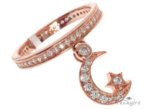 Silver CZ Moon Eternity Ring 62535 Anniversary/Fashion