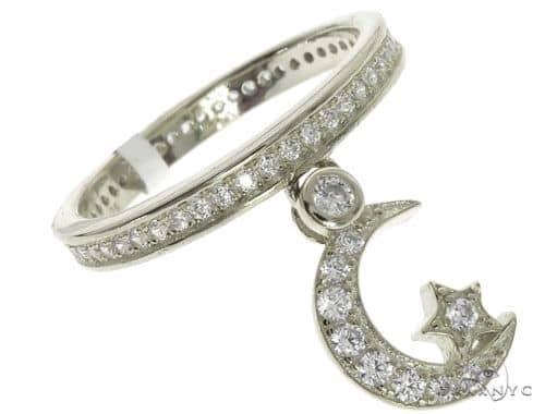 Silver CZ Moon Eternity Ring 62536 Anniversary/Fashion