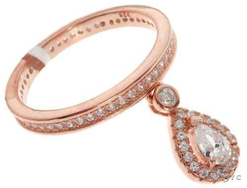 Silver CZ Pear Eternity Ring 62538 Anniversary/Fashion