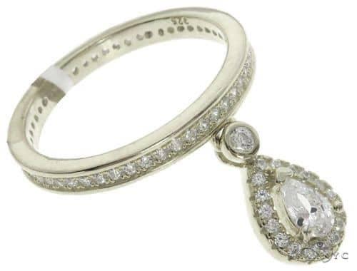 Silver CZ Pear Eternity Ring 62539 Anniversary/Fashion