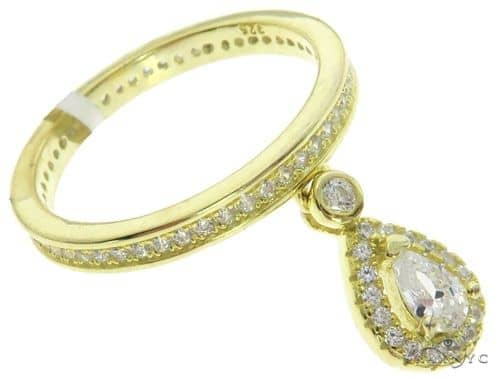 Silver CZ Pear Eternity Ring 62540 Anniversary/Fashion