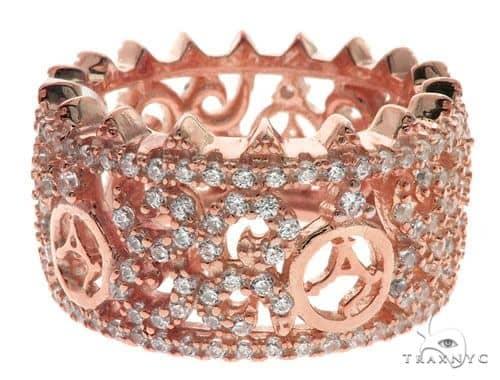 Silver CZ Agacci Eternity Ring 62544 Anniversary/Fashion
