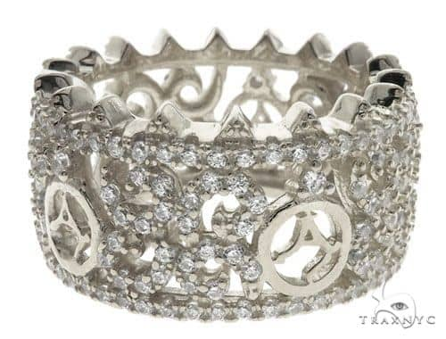Silver CZ Agacci Eternity Ring 62545 Anniversary/Fashion