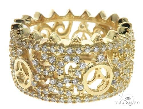 Silver CZ Agacci Eternity Ring 62546 Anniversary/Fashion
