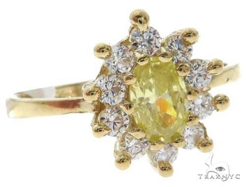 Yellow 10K Gold CZ Ring 25270 Anniversary/Fashion