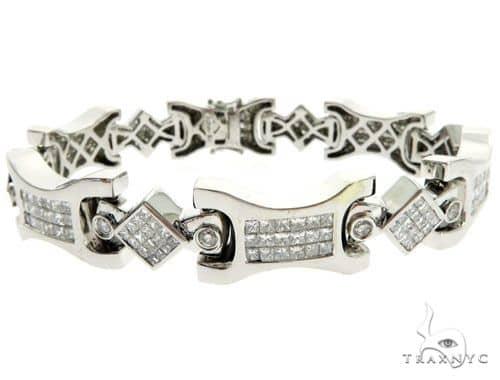 14K White Gold Bezel Invisible Diamond Bracelet 62560 Diamond