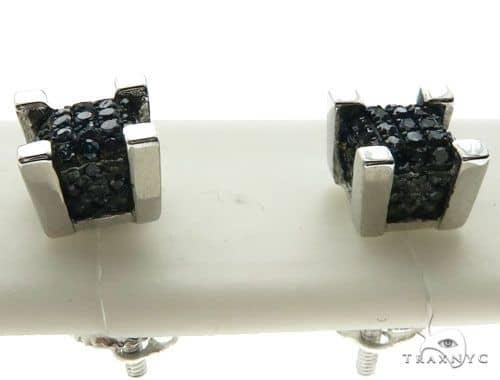 10K White Gold Micro Pave Diamond Stud Earrings 62626 Stone
