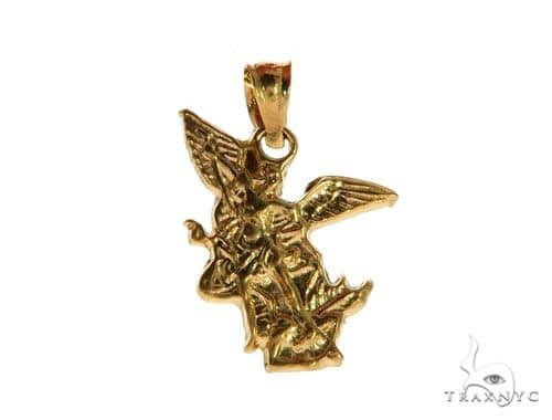 Small St Saint Michael Charm Pendant Protection 62996 Metal