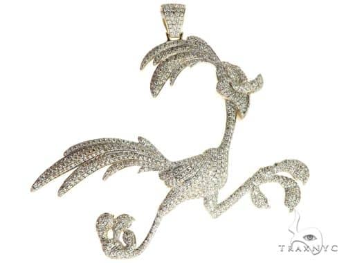 14K Yellow Gold Running Bird Pendant 63090 Metal