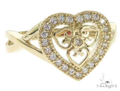 CZ 10K Yellow Gold Heart Ring 63111 Anniversary/Fashion