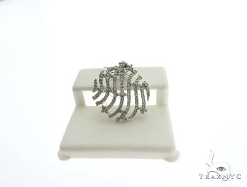 14K White Gold Micro Pave Diamond Charm Pendant 63122 Stone