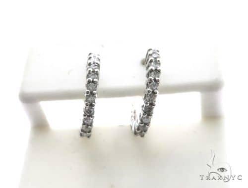 10K White Gold Micro Pave Diamond Stud Earrings 63132 Stone