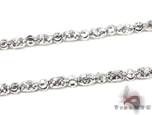 Thin Moon Cut Chain 24 Inches 4mm 19.1 Grams 63307 Gold