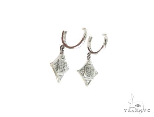 10K White Gold Micro Pave Diamond Stud Earrings. 63339 Stone