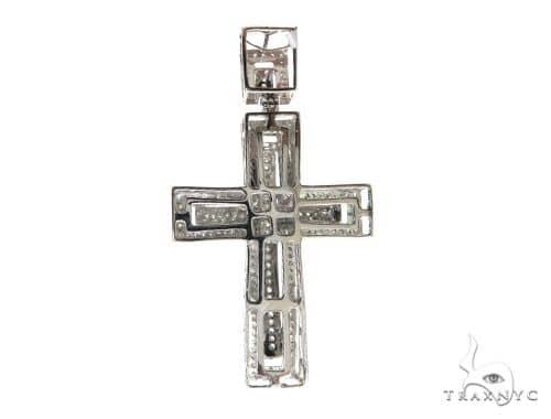 14K White Gold Diamond Cross Pendant. 63345 Metal
