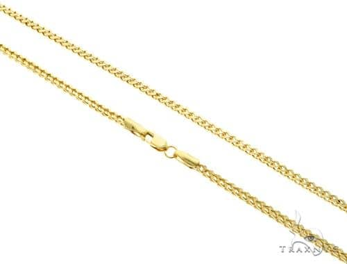 10K Yellow Gold Franco Link Chain 20 Inches 2mm 4.7 Grams 63346 Gold