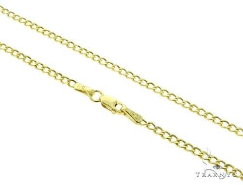 Cuban Curb 10K YG Chain 18 Inches 2mm 3 Grams 63348 Gold