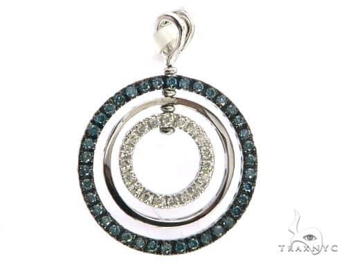 14K White Gold Triple Circle Earrings. 63415 Stone
