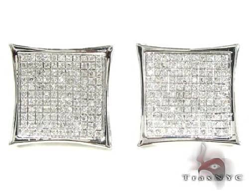 Pave SQ Earrings 4 63420 Stone
