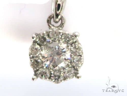 14K White Gold Diamond Pendant 63434 Stone