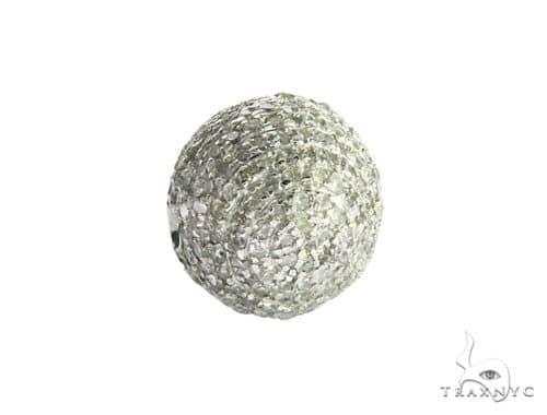 14K White Gold Micro Pave Diamond Globe Pendant 63450 Stone