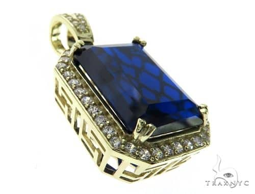 Small Blue Tresaure Gold Pendant 63440 Metal