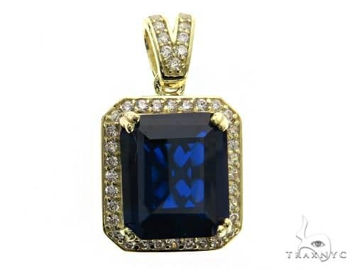 Mini Blue Tresaure Gold Pendant 63443 Metal