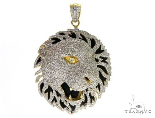 Prong Diamond Lion Pendant 30822 Metal