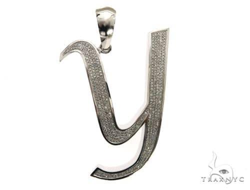 14K White Gold Diamond 'Y' Initial 63552 Metal