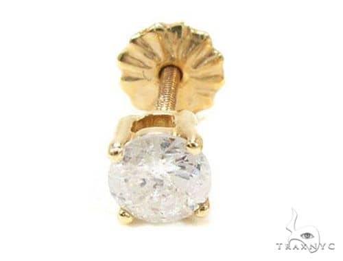 Single Prong Diamond  Earring Stud 63556 Stone