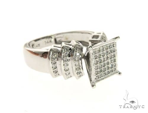 14K White Gold Micro Pave Diamond Ring 63577 Anniversary/Fashion
