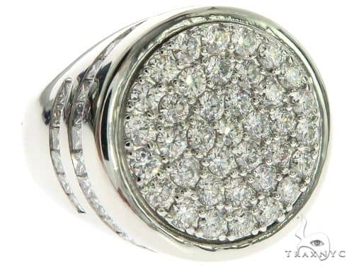 14K White Gold Prong Channel Diamond Ring 63581 Stone