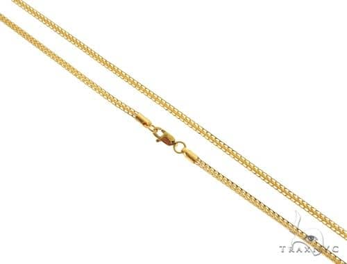 22K Yellow Gold Open Wheat Link Chain 20 Inches 2.2mm 10.2 Grams 63586 Gold