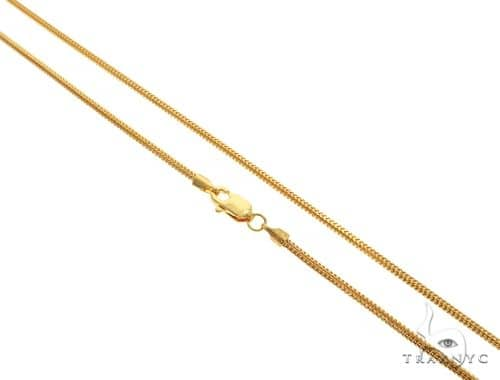 22K Yellow Gold Franco Link Chain 22 Inches 2.5mm 18.7 Grams 63592 Gold