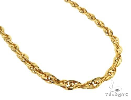 22K Yellow Gold Singapore Link Chain 18 Inches 5.2mm 12.6 Grams 63602 Gold