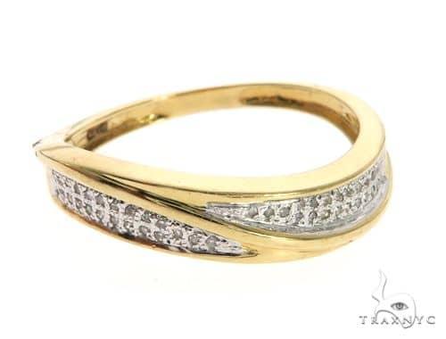 Silver Yellow  Micro Pave Diamond Ring 63639 Anniversary/Fashion