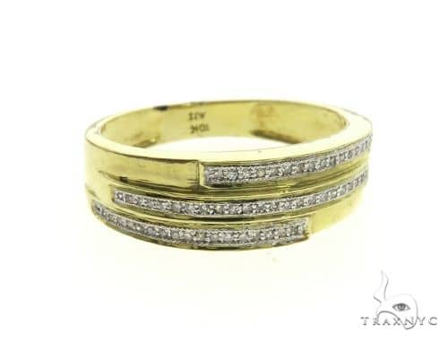 10K Yellow Gold Micro Pave Diamond Ring 63647 Stone
