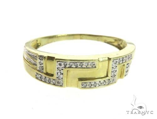 10K Yellow Gold Micro Pave Diamond Ring 63660 Stone