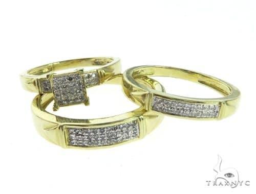 14K Yellow Gold Diamond Ring Wedding Set 63671 Engagement
