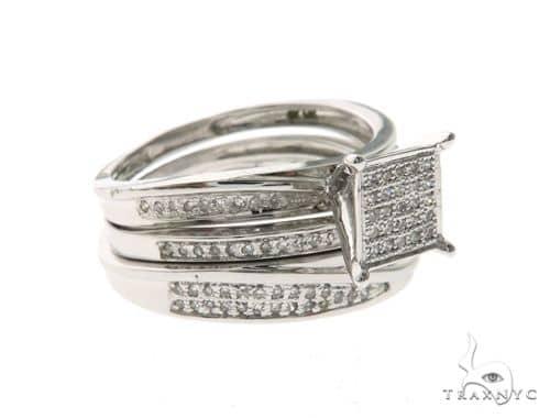 14K White Gold Elegant Diamond Wedding Set 63674 Engagement