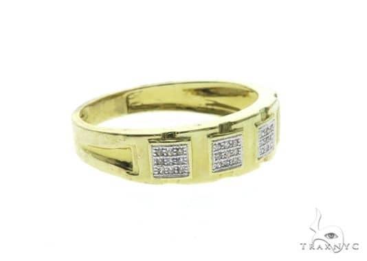 10K Yellow Gold Micro Pave Diamond Ring 63676 Stone