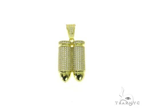 Double Bullet Pendant 63690 Metal