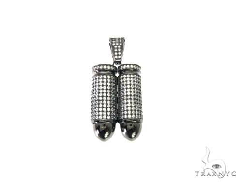 Double Bullet Pendant 63694 Metal