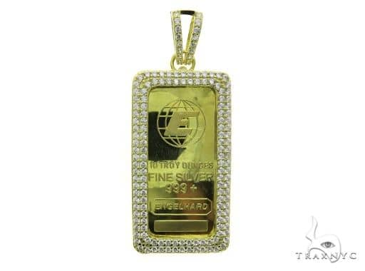 Yellow Dog Tag Pendant 63695 Metal