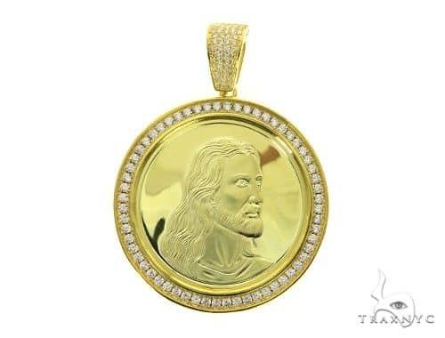 Yellow Jesus Pendant 63696 Metal