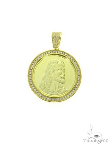 Yellow Jesus Pendant 63696 Metal
