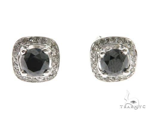 14K White Gold Prong Diamond Earrings 63708 10k, 14k, 18k Gold Earrings