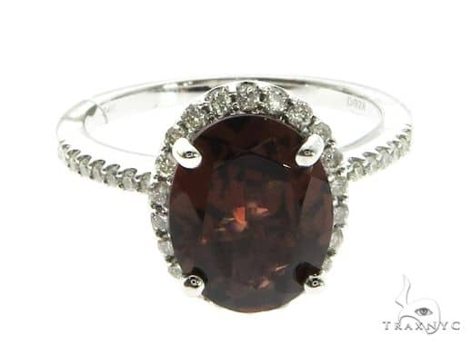 14K White Gold Red Garnet & Diamond Ring 63714 Anniversary/Fashion
